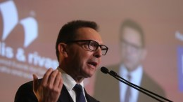 Ο διοικητής της Τράπεζας της Ελλάδος, Γιάννης Στουρνάρας, μιλάει σε συνέδριο του Economist. ΑΠΕ-ΜΠΕ/ΑΠΕ-ΜΠΕ/ΑΛΕΞΑΝΔΡΟΣ ΒΛΑΧΟΣ.