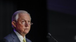 FILE PHOTO. US Attorney General Jeff Sessions speaks at the National Law Enforcement Training on Child Exploitation meeting in Atlanta, Georgia. EPA, ERIK S. LESSER