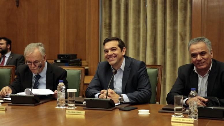 Συνεδρίαση του υπουργικού συμβουλίου υπό την προεδρία του πρωθυπουργού Αλέξη Τσίπρα στη Βουλή. ΑΠΕ-ΜΠΕ/ΑΛΕΞΑΝΔΡΟΣ ΒΛΑΧΟΣ.