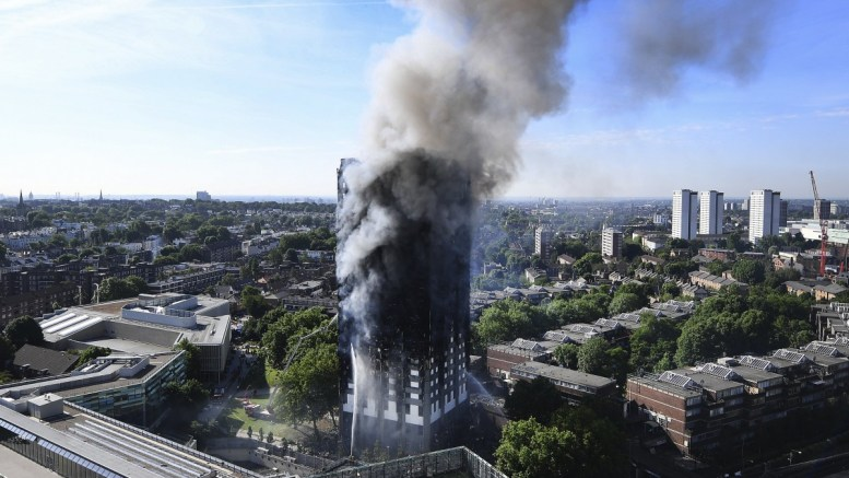 FILE PHOTO. A general view of the Grenfell Tower apartment block fire in North Kensington, London, Britain. EPA/ANDY RAIN.
