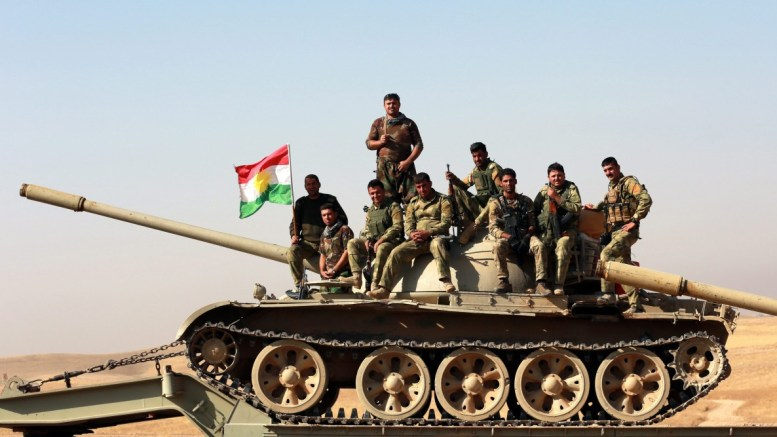 File Photo: Peshmerga forces take part. EPA, AHMED JALIL