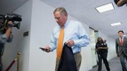 US Senator Senator Richard Burr exits closed briefing on Intelligence Matters on Capitol Hill in Washington, DC, USA. EPA, TASOS KATOPODIS