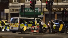 FILE PHOTO. Police units at London Bridge after reports of a incident involving a van hitting pedestrian on London Bridge, Central London, Britain. EPA/WILL OLIVER