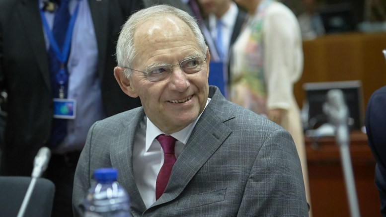 Mr Wolfgang SCHAUBLE, German Federal Minister for Finance, in Bruxelles - BELGIUM. Copyright: European Union