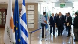 File Photo: Ο Υπουργός Εξωτερικών Ιωάννης Κασουλίδης με τον Υπουργό Εξωτερικών της Ελλάδος Νίκο Κοτζιά. Λευκωσία 18 Ιουλίου 2017. Φωτογραφία ΣΤ. ΙΩΑΝΝΙΔΗΣ
