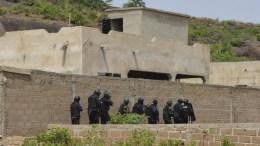 FILE PHOTO. Malian forces conduct search operations at the Le Campement Kangaba resort outside Bamako, Mali. EPA/STR