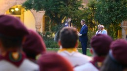 Ο Πρόεδρος της Δημοκρατίας κ. Νίκος Αναστασιάδης στην εκδήλωση του Σώματος Προσκόπων Κύπρου. Λευκωσία 18 Ιουλίου 2017. Φωτογραφία ΣΤ. ΙΩΑΝΝΙΔΗΣ