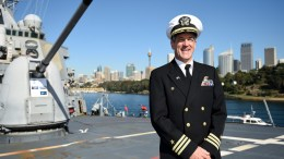 FILE PHOTO. Commanding Officer of the United States Navy destroyer USS Stethem. EPA/DAN HIMBRECHTS AUSTRALIA AND NEW ZEALAND OUT