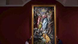 Ο πίνακας του Ελ Γκρέκο «Άμωμος σύλληψη».  Φωτογραφία ΑΠΕ-ΜΠΕ
