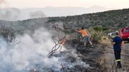 Υπό μερικό έλεγχο τέθηκε η φωτιά που ξέσπασε το απόγευμα ανάμεσα στα χωριά Μεσαίο και Πετρωτό Θεσσαλονίκης. ΑΠΕ-ΜΠΕ/ΜΠΟΥΓΙΩΤΗΣ ΕΥΑΓΓΕΛΟΣ.
