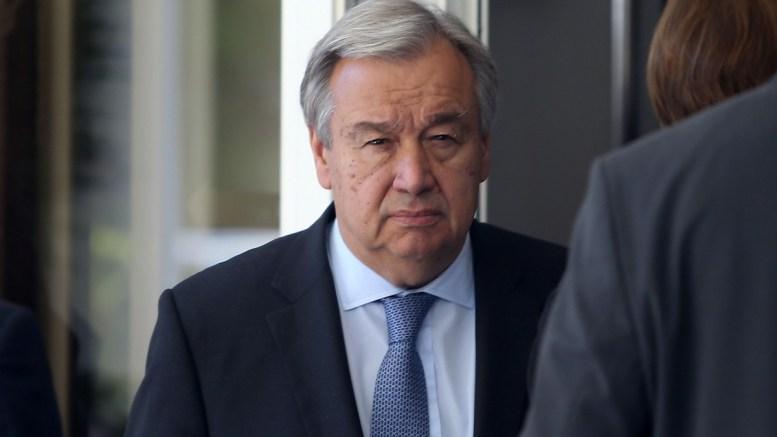 File Photo: Ο Γενικός Γραμματέας του ΟΗΕ Αντόνιο Γκουτέρες στη Διάσκεψη για το Κυπριακό στο Crans Montana της Ελβετίας. ΚΥΠΕ, ΚΑΤΙΑ ΧΡΙΣΤΟΔΟΥΛΟΥ