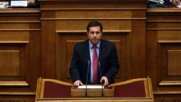 Ο βουλευτής της Νέας Δημοκρατίας, Νότης Μηταράκης, μιλάει στην Ολομέλεια της Βουλής. ΑΠΕ-ΜΠΕ/ΑΛΕΞΑΝΔΡΟΣ ΒΛΑΧΟΣ.