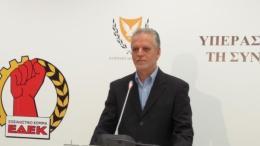 Ο πρόεδρος της ΕΔΕΚ Μαρίνος Σιζόπουλος. Φωτογραφία ΚΥΠΕ.