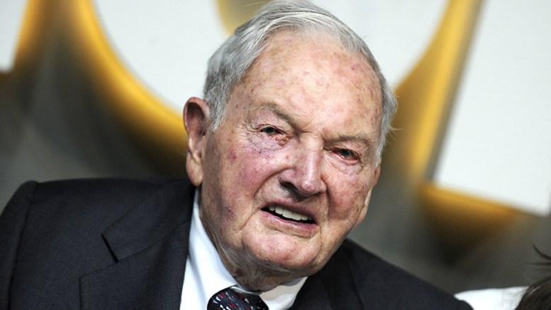US banker David Rockefeller. EPA, PETER FOLEY