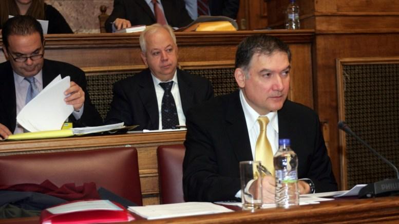 FILE PHOTO:  πρόεδρος της ΕΛΣΤΑΤ Ανδρέας Γεωργίου (Δ) στη συνεδρίαση της Επιτροπής του Απολογισμού και του Γενικού Ισολογισμού του Κράτους και Ελέγχου της Εκτέλεσης του Προϋπολογισμού του Κράτους. ΑΠΕ-ΜΠΕ, Αλέξανδρος Μπελτές