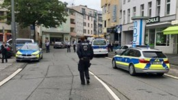 POLICE are hunting down a knifeman who stabbed a man to death and injured another in Germany, according to reports.. Photo via Twitter