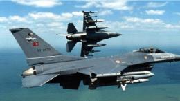 Σχηματισμός τουρκικών  αεροσκαφών F-16.  Φωτογραφία Τουρκική Αεροπορία