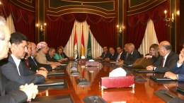 File Photo: President of the Iraqi Kurdistan Region Masoud Barzani (C-L) receives Secretary-General of the Arab League Ahmed Abul Gheit (C-R) in Erbil, the capitol of Kurdistan region, northern Iraq on 09 September 2017. EPA, GAILAN HAJI