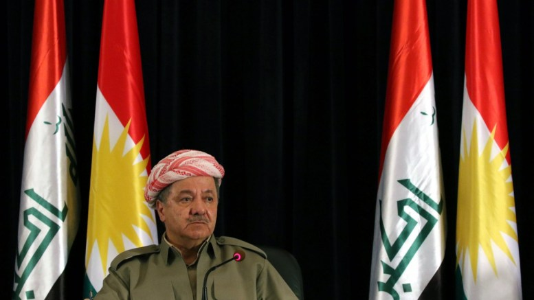Masoud Barzani President of the Iraqi Kurdistan Region speaks to International journalists during a press Conference in Erbil on preparing for the referendum and supporting independence in the upcoming 25 September 2017 referendum, in Erbil, Kurdistan Region of Iraq, 24 September 2017. The Kurdistan region is an autonomous region in northern Iraq since 1991, with an estimated population of 5.3 million people. The region share borders with Turkey, Iran, and Syria, all of which have large Kurdish minorities. EPA, GAILAN HAJI