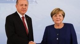 Η Γερμανίδα καγκελάριος Μέρκελ και ο Τούρκος πρόεδρος Ερντογάν. Φωτογραφία Αρχείου, Τουρκική Προεδρία.