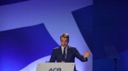 """Ο πρόεδρος της Νέας Δημοκρατίας Κυριάκος Μητσοτάκης μιλάει στους εκπροσώπους των παραγωγικών τάξεων κατά τη διάρκεια της 82ης  Δ.Ε.Θ. στη Θεσσαλονίκη, το  Σάββατο 16 Σεπτεμβρίου 2017, στο συνεδριακό κέντρο """"Ι. Βελλίδης"""". ΑΠΕ-ΜΠΕ/ΑΠΕ-ΜΠΕ/ΝΙΚΟΣ ΑΡΒΑΝΙΤΙΔΗΣ"""