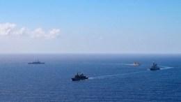 Πλοία του Ελληνικού Ναυτικού στο Αιγαίο. Φωτογραφία hellenicnavy.gr