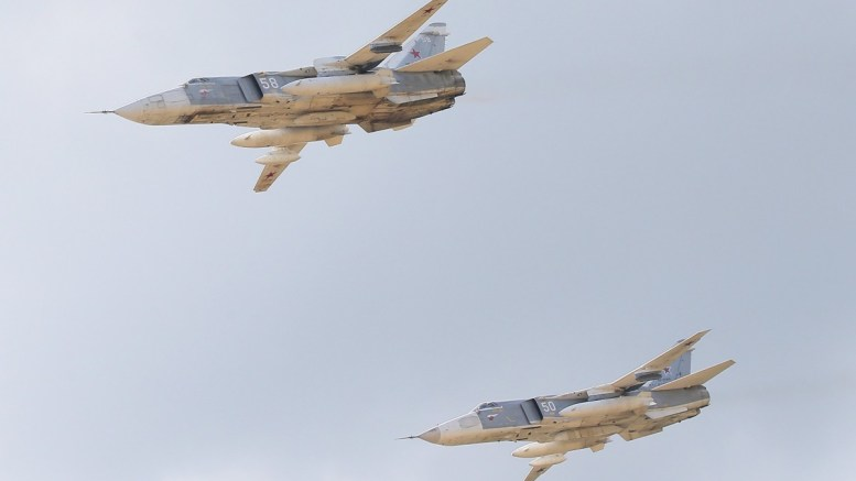 Russian Su-24 bombers in action. FILE PHOTO. EPA, MAXIM SHIPENKOV