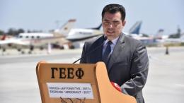 Ο υπουργός Άμυνας της Κύπρου Χριστόφορος Φωκαΐδης . Φωτογραφία ΚΥΠΕ.