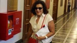 Η αναπληρώτρια υπουργός Εργασίας Κοινωνικής Ασφάλισης και Κοινωνικής Αλληλεγγύης  αρμόδια για την Κοινωνική Αλληλεγγύη Θεανώ Φωτίου φτάνει  στη σημερινή συνεδρίαση του υπουργικού συμβουλίου στη Βουλή, Δευτέρα 18 Σεπτεμβρίου 2017. ΑΠΕ - ΜΠΕ/ΑΠΕ - ΜΠΕ/Αλέξανδρος Μπελτές