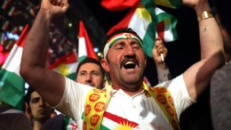 Kurdish men take part in a gatharing to support the upcoming independence referendum, at a street in Erbil city, northern Iraq. FILE PHOTO. EPA/GAILAN HAJI