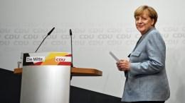 FILE PHOTO. German Chancellor Angela Merkel of the Christian Democratic Union (CDU). EPA/CHRISTIAN BRUNA