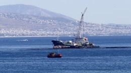 Πλοία στο σημείο του ναυάγιου του δεξαμενόπλοιου Αγία Ζώνη ΙΙ , Παρασκευή 22 Σεπτεμβρίου 2017. ΑΠΕ-ΜΠΕ//Παντελής Σαίτας
