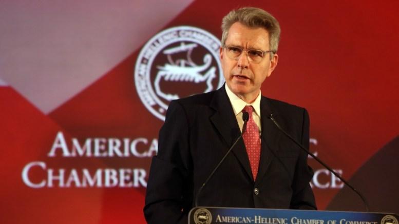 Ο πρέσβης των ΗΠΑ στην Αθήνα Τζέφρυ Πάϊατ. ΑΠΕ-ΜΠΕ/Αλέξανδρος Μπελτές