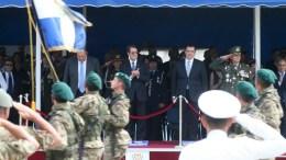 Ο Πρόεδρος της Δημοκρατίας Νίκος Αναστασιάδης κατά τη διάρκεια παρέλασης. Φωτογραφία Αρχείου. Φωτογραφία Σταυρος Ιωαννιδης