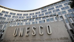 Exterior view of the UNESCO headquarters after the second day vote for the new secretary-general, in Paris, France, 18 September 2009 (reissued 12 October 2017). According to reports from 12 October 2017, diplomats said the USA and Israel were planning to withdraw from the UNESCO. The withdrawal is seen as a response in protest against the full membership to the  United Nations Educational, Scientific and Cultural Organization (UNESCO) granted to Palestinians.  EPA/YOAN VALAT *** Local Caption *** 01866560