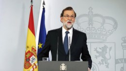 FILE PHOTO. Spanish Prime Minister Mariano Rajoy gives a press statement on the Catalonia independence referendum '1-O Referendum' in Madrid, Spain. EPA/JJ GUILLEN