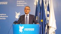 Ο Πρόεδρος του ΔΗΣΥ Αβέρωφ Νεοφύτου. ΚΥΠΕ, Η. ΜΙΤΣΙΔΟΥ