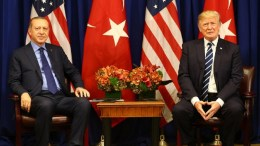 File Photo: President Recep Tayyip Erdoğan, met with President Donald Trump of the United States, in New York. Photo via Turkish Presidency.
