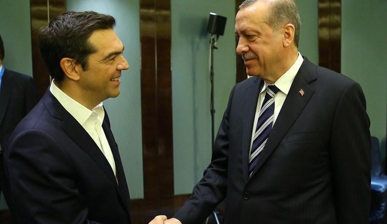 Ο Αλέξης Τσίπρας με τον Ταγίπ Ερντογάν. Φωτογραφία τουρκική προεδρία.