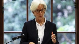 File Photo: Christine Lagarde, Managing Director of the International Monetary Fund (IMF), speaks during a news conference. EPA, LUKE MacGREGOR , POOL