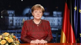 German Chancellor Angela Merkel at her annual, new year's address in Berlin, Germany. EPA, Michele Tantussi,/ POOL