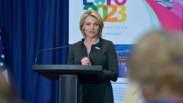 U.S. Department of State Spokesperson Heather Nauert  [State Department Photo/ Public Domain]