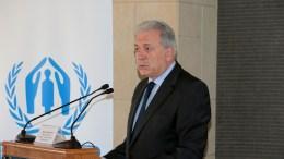 Ο Ευρωπαίος Επίτροπος Μετανάστευσης, Εσωτερικών Υποθέσεων και Ιθαγένειας Δημήτρης Αβραμόπουλος. ΑΠΕ-ΜΠΕ, Παντελής Σαίτας