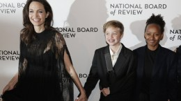 File Photo: US actress Angelina Jolie (L) and daughters Shiloh Jolie-Pitt (C) and Zahara Jolie-Pitt (R) arrive for the National Board of Review of Motion Pictures awards gala in New York, New York, USA. EPA, JASON SZENES