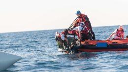 SOS MEDITERRANEE, Medicins sans frontieres; Search and Rescue Mission on the Medieterranean Sea offshore the Libyan coast; MV Aquarius; January 2018; Photo: Laurin Schmid, SOS MEDITERRANEE