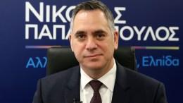 Ο πρόεδρος του ΔΗΚΟ Νικόλας Παπαδόπουλος. Φωτογραφία ΚΥΠΕ