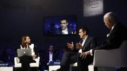 Ο πρωθυπουργός Αλέξης Τσίπρας στο Νταβός. Φωτογραφία Γραφείο Πρωθυπουργού
