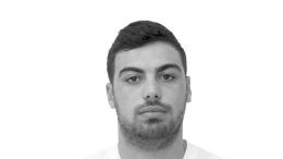 O άτυχος αθλητής χάντμπολ της Βέροιας Άκης Ψωμιάδης . Φωτογραφία ΑΠΕ-ΜΠΕ