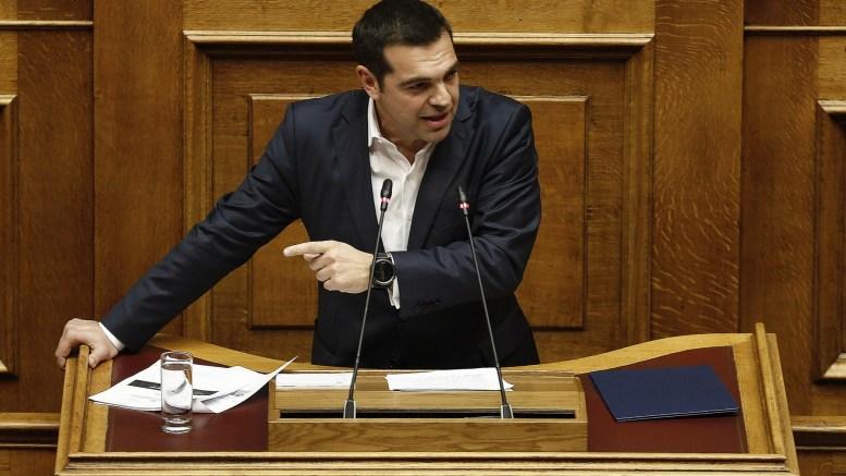 Ο πρωθυπουργός Αλέξης Τσίπρας μιλάει από το βήμα της Βουλής στη συζήτηση και ψηφοφορία επί της προτάσεως της κυβερνητικής πλειοψηφίας για τη συγκρότηση επιτροπής προκαταρκτικής εξέτασης για την υπόθεση NOVARTIS, στην Ολομέλεια της Βουλής, Τετάρτη 21 Φεβρουαρίου 2018. ΑΠΕ-ΜΠΕ, ΑΛΕΞΑΝΔΡΟΣ ΒΛΑΧΟΣ