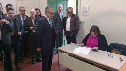 File Photo: Ο Πρόεδρος του Δημοκρατικού Συναγερμού Αβέρωφ Νεοφύτου ασκεί το εκλογικό του δικαίωμα, Λευκωσία 4 Φεβρουαρίου 2018. Φωτογραφία ΚΥΠΕ
